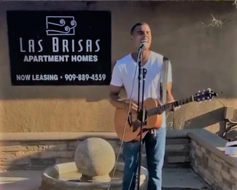 musician preforms at Las Brisas