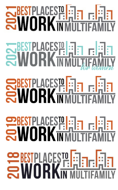 Best Places to work logos 2018-2021